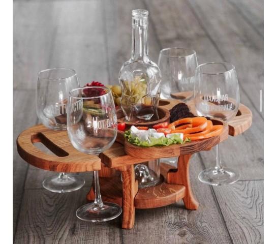 "Винный столик ""4 бокала"""
